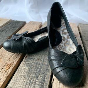 Born Black Ballet Flats
